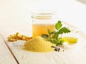 Ingredients for herb polenta