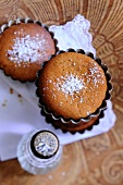Darjeeling cakes dusted with icing sugar