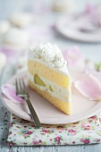 Melon cream layer cake