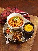 Chana masala (chickpea curry, India)