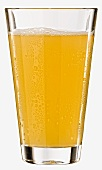 A glass of apple schorle (apple juice and mineral water)