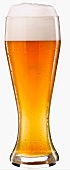 A glass of wheat beer