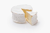 French soft cheese made from unpasteurised milk, sliced