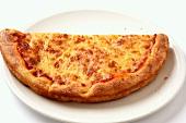 Half a Margherita pizza