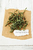 Dried plantain (Plantago lanceolata)