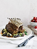 Rack of lamb with olives