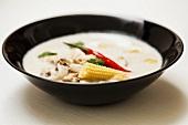 Tom ka gai (Thai chicken and coconut soup)