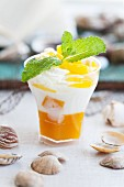 Mango yoghurt with lemon balm