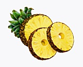 A pineapple cut into rings (illustration)