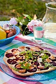 Pizza with beetroot (Sweden)