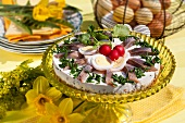 Classic soused herring tart for Easter (Sweden)