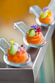 Salmon and Wasabi in Appetizer Spoon