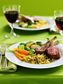 Single Serving of Lamb, Spaetzle, Carrots and Brussels Sprouts