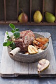 Pork Roast with pears