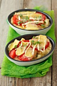 Gnocchi baked with tomatoes and Camembert