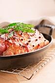 Glazed roast ham