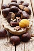 An arrangement of chestnuts