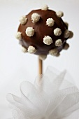A chocolate cake pop