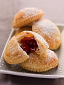 Puff pastries with a fruit filling