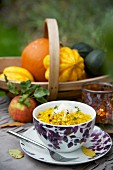 Pumpkin risotto with Parmesan