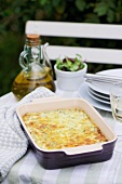 Courgette bake in a baking dish