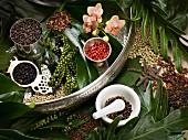 An arrangement of various types of pepper