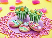 Cupcakes and Easter biscuits