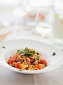 Tagliatelle al polpo (ribbon pasta with octopus, Italy)