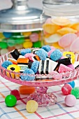An assortment of sweet treats (liquorice, sweets)