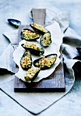 Gratinated mussels