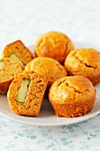 Carrot and courgette muffins