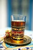 Jasmine tea in a glass (Tunisia)