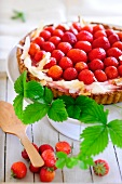 A fresh strawberry tart