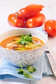 Tomato soup with leek