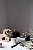 Carob cake with beetroot