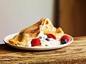 Crepe with yogurt and fresh berries