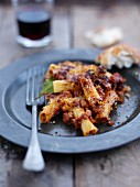 Rigatoni bake with minced meat