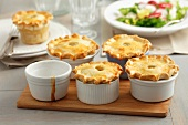 Several small minced meat pies