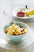 Basic muesli with apple and banana