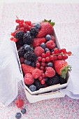 Summer berries in a punnet
