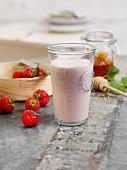 Strawberry and banana buttermilke
