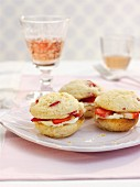 Strawberry whoopie pies