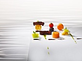 Oxtail cooked 'sous vide' with vegetables