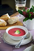 Borscht (beetroot soup)