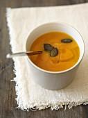 Pumpkin soup with pumkin seeds