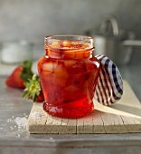 Strawberry and mango jam