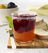 Yellow and red plum spread