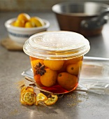Kumquats preserved in rum