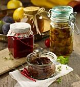 Assorted chutneys and relish