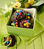Colourful Easter nests